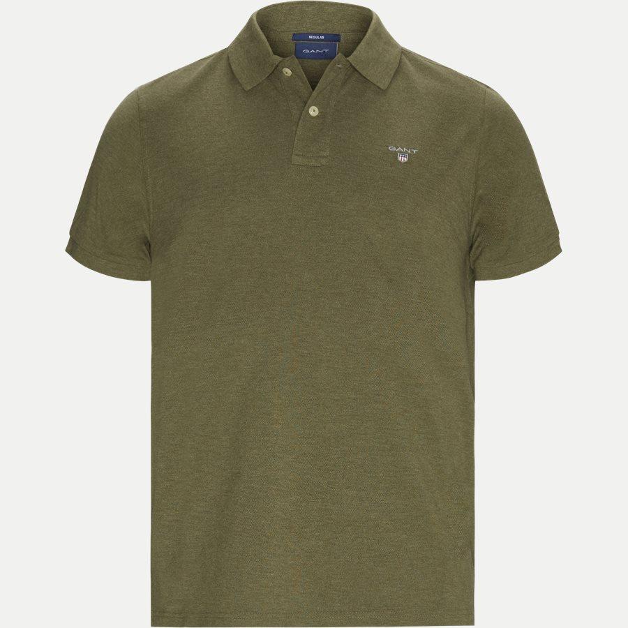 2201 S19 - The original Pique SS Rugger Polo T-shirt - T-shirts - Regular - KHAKI MELANGE - 2